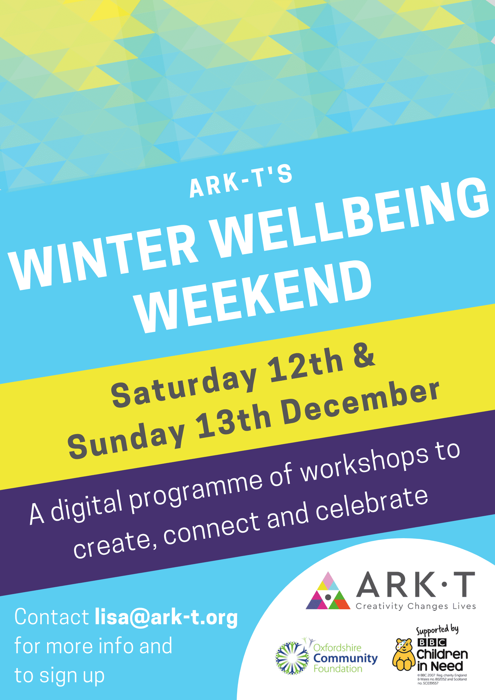 WINTER WELLBEING WEEKEND with Ark-T