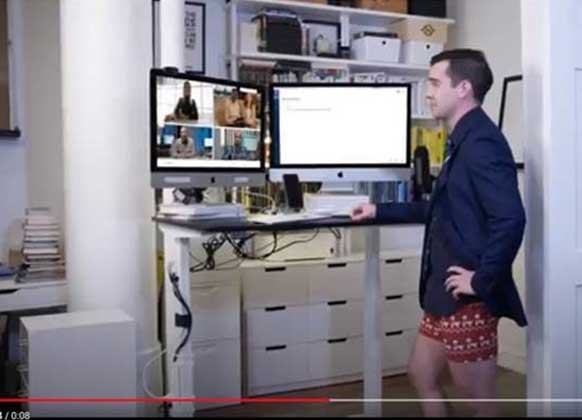 Don't Zoom in too close: 30% of us are wearing PJs on work conference calls, some have no trousers at all!